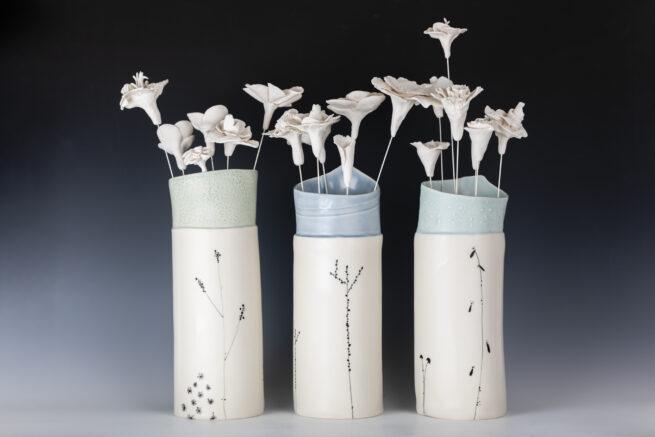 Blossom Porcelain Vases