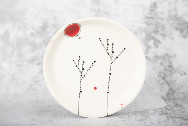 Ezme Designs Small Porcelain Plate