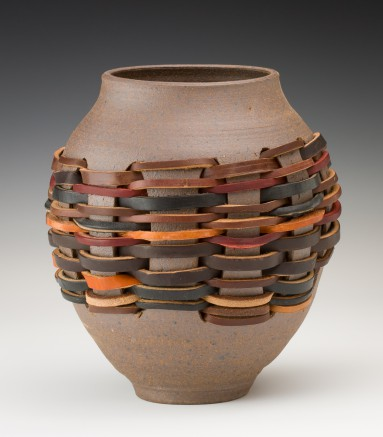 Vase with Leather Weaving