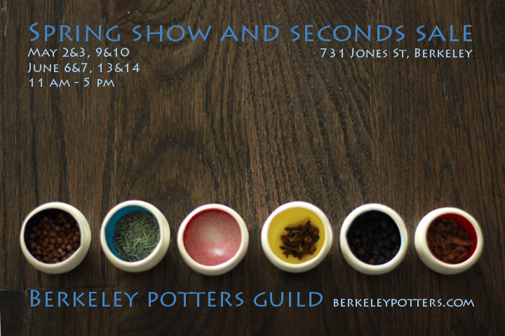 JFish Designs at the Berkeley Potters Guild Seconds Sale