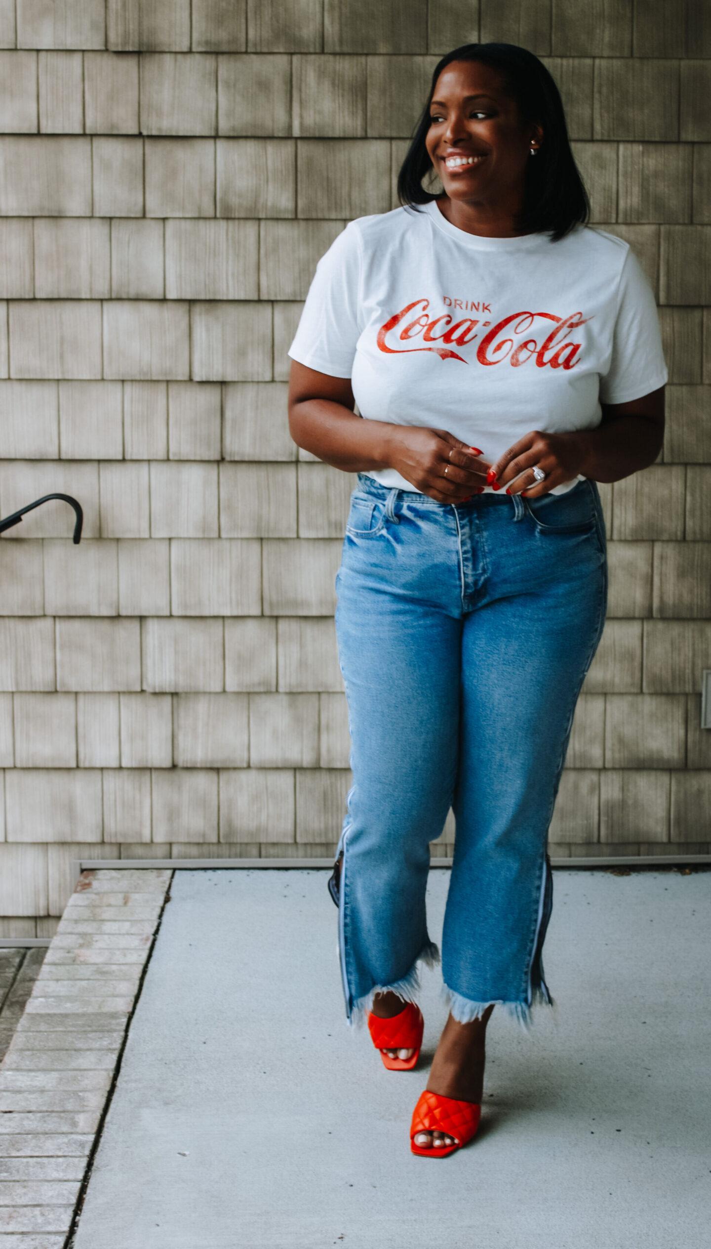 coca cola shirt look