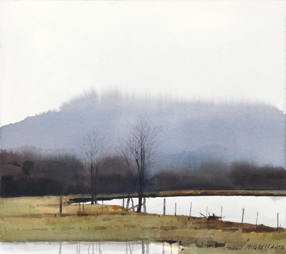 Alabama Farm Land by Artist Dean Mitchell