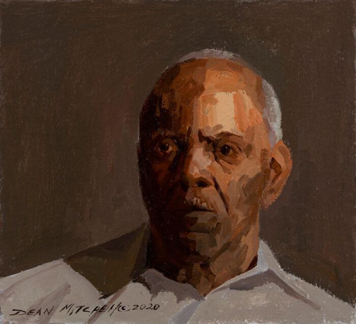 "Dr. TJ Bryant, oil, 8.75"" x 9.75"""