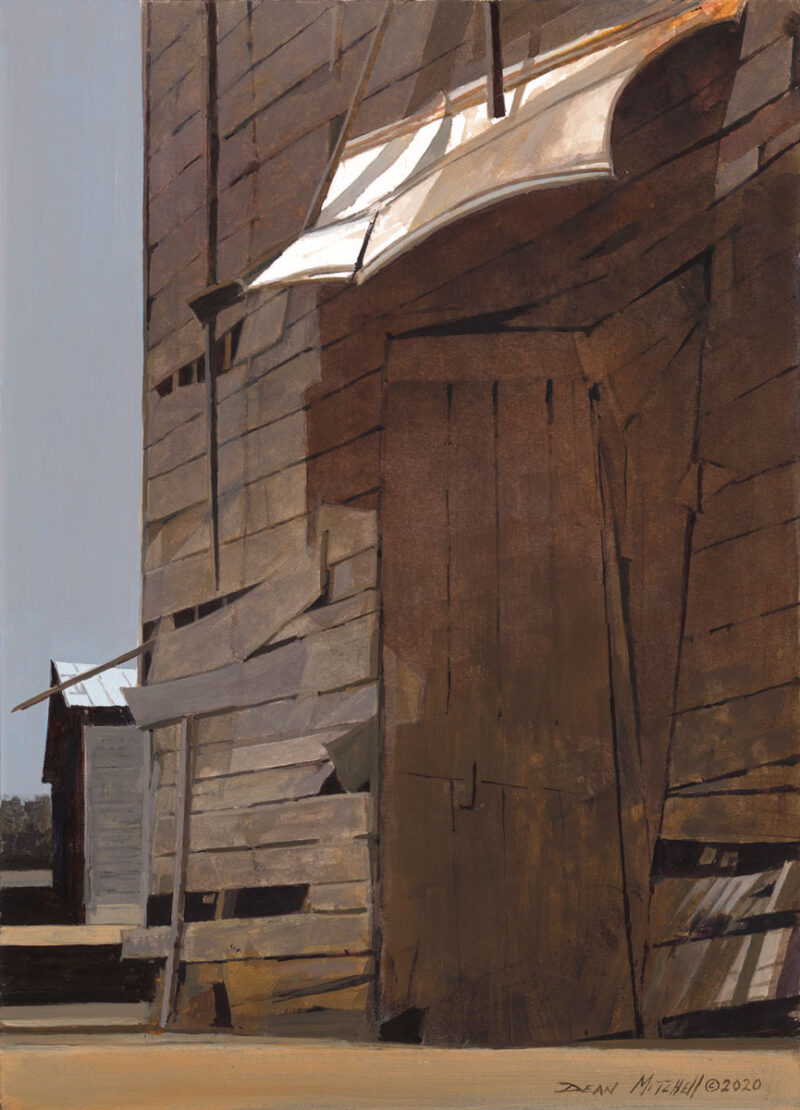 Barn Shadows, acrylic, 15 x 10