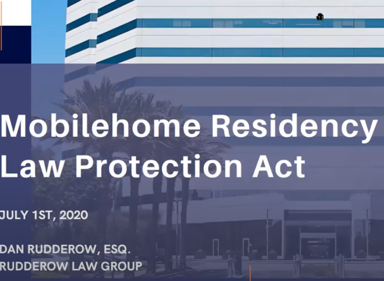 Mobilehome Residency Law Protection Act
