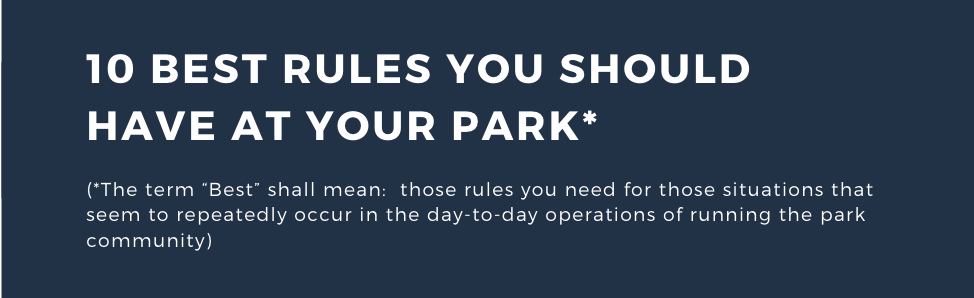 10 Best Rules You Should Have at your Park