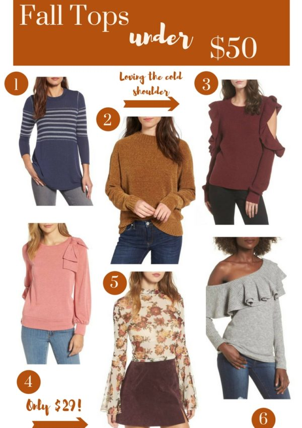fall tops under $50
