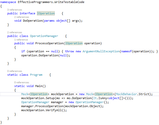 Writing testable code