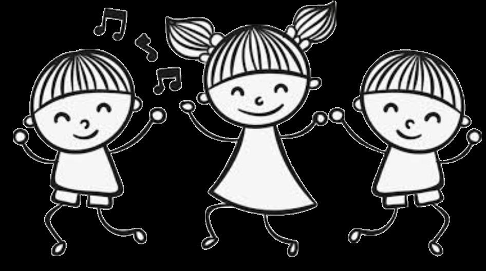 drawing-three-kids-dancing