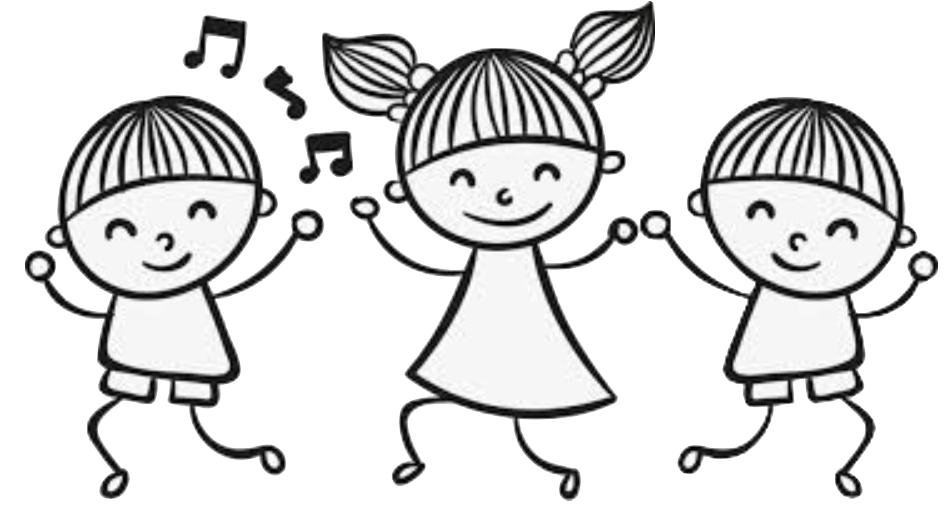 drawing-three-kids-dancing
