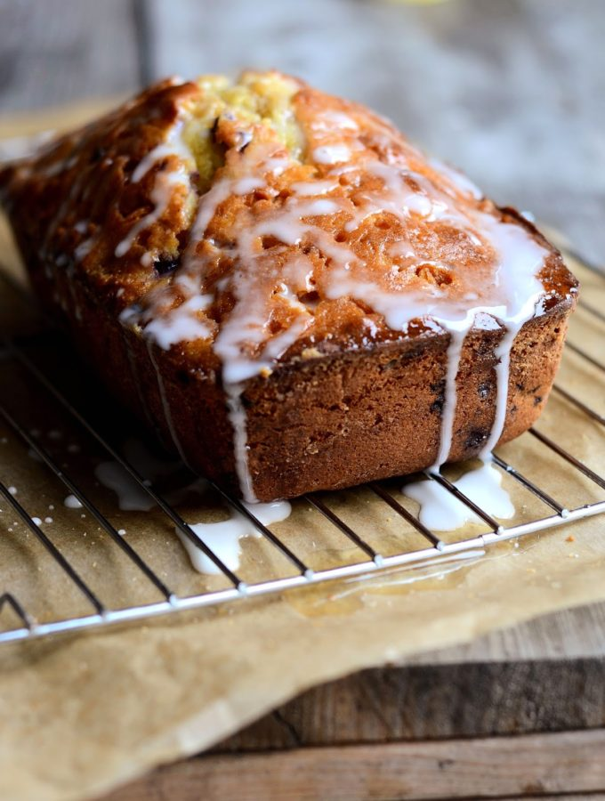 Blueberry Lemon Drizzle Bread