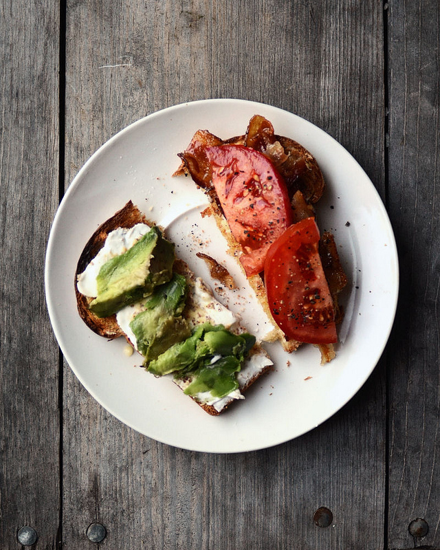 BAT (Bacon, Avocado and Tomato) Sandwich | Buttered Side Up