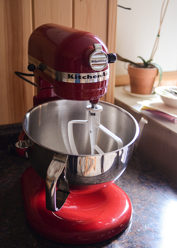 Shiny Red Kitchen Aid!