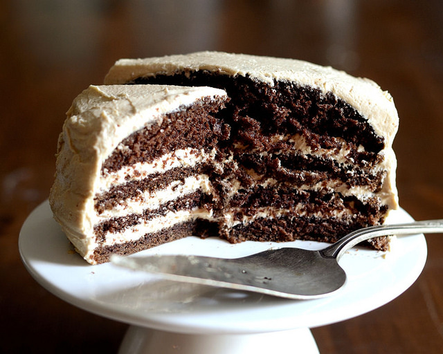 Chocolate Cake with Peanut Butter Frosting   Buttered Side Up