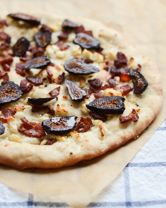 Bacon, Feta and Fig Pizza