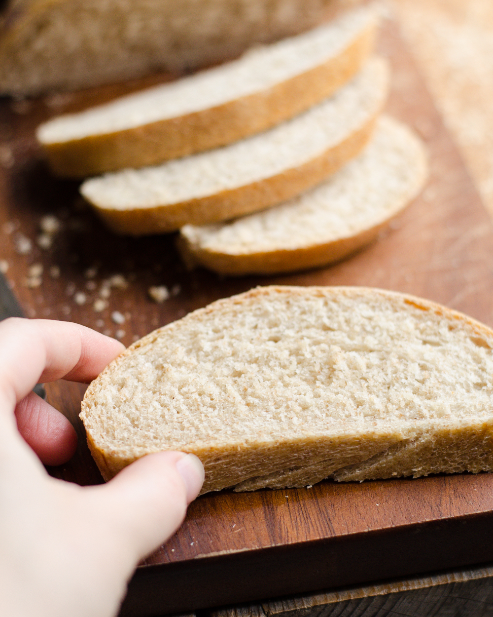 Whole Wheat French Bread | Buttered Side Up