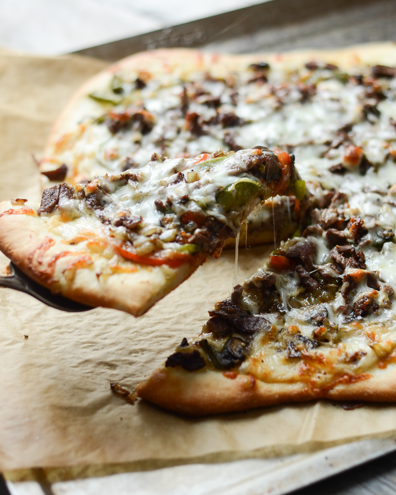 Philly Cheese Steak Pizza   Buttered Side Up