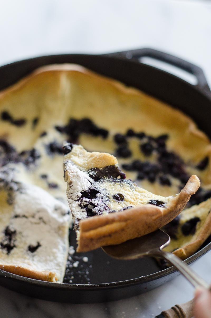 Blueberry Dutch Baby - Buttered Side Up