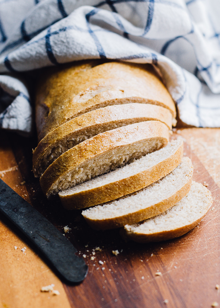 Whole Wheat French Bread   Buttered Side Up