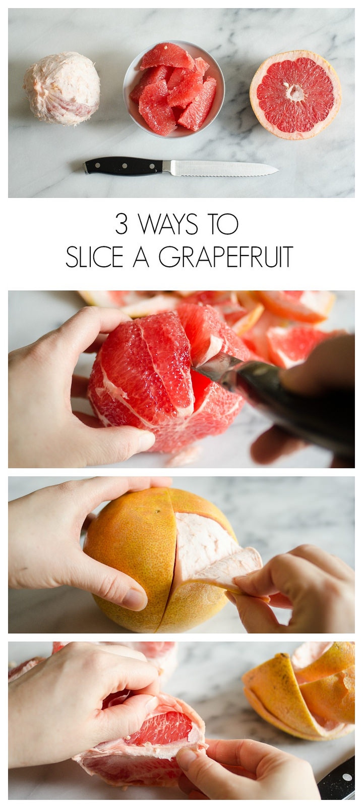 3 Ways to Slice a Grapefruit