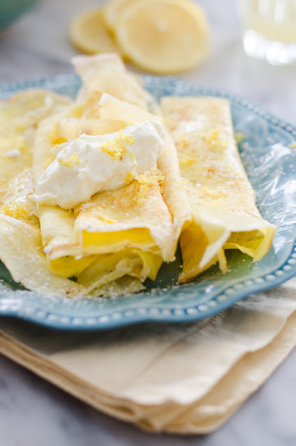 Lemon Crepes with Whipped Ricotta