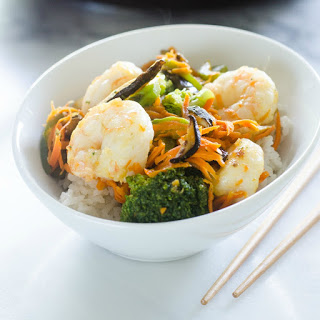 30-Minute Shrimp and Shiitake Stir-Fry