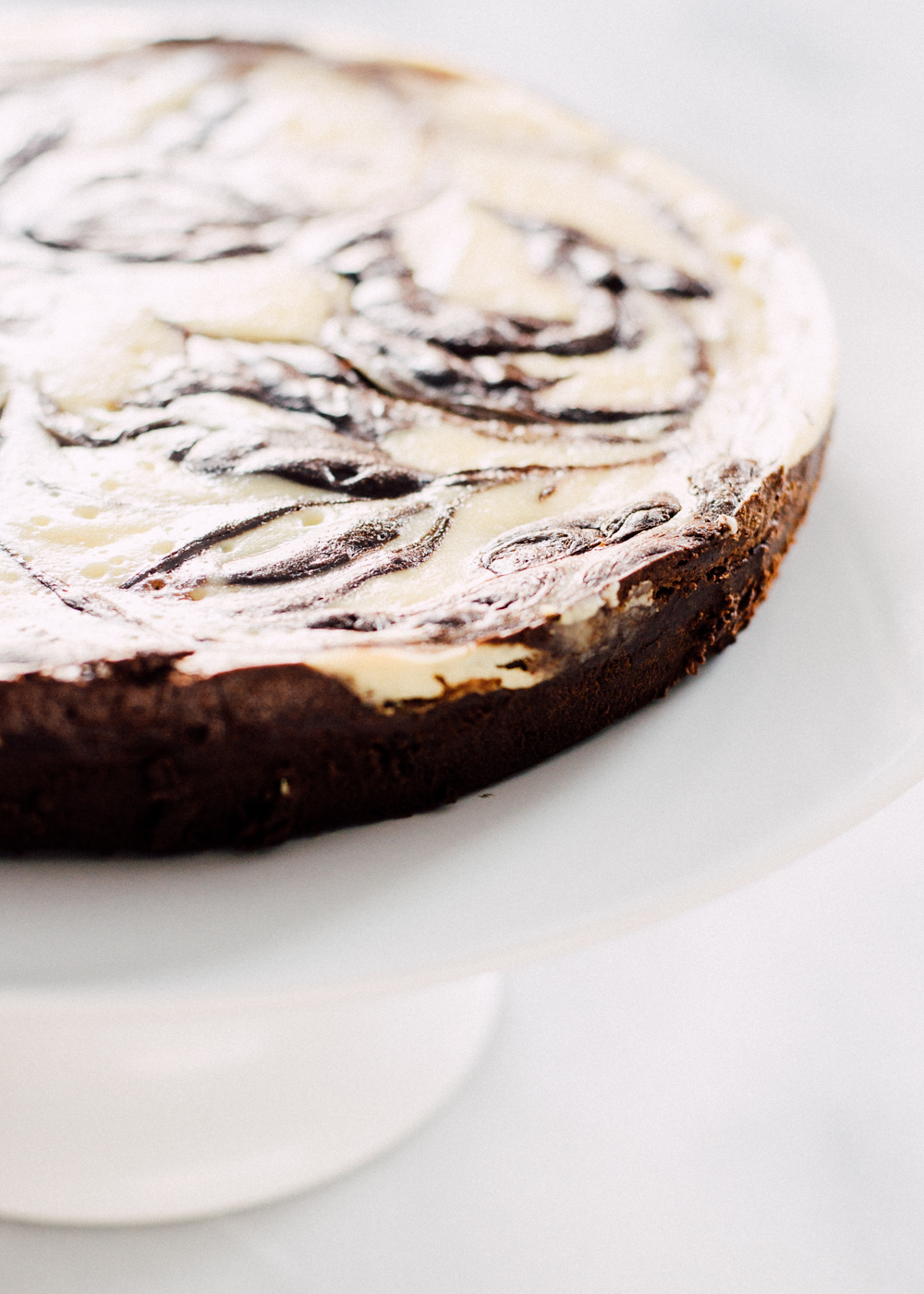 Flourless Chocolate Marbled Cheesecake