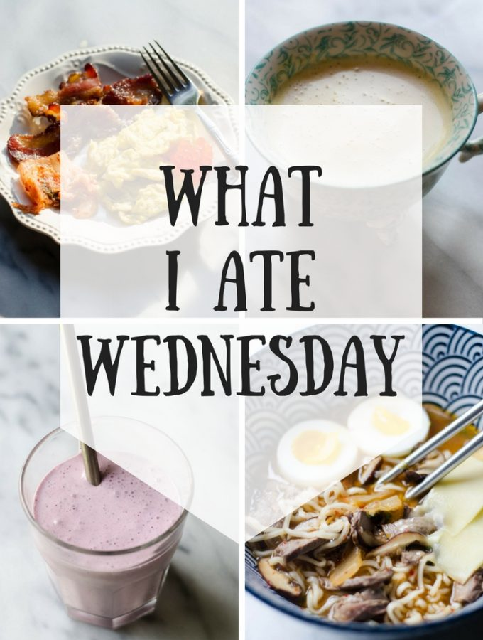 What I Ate Wednesday (8-23-2017)
