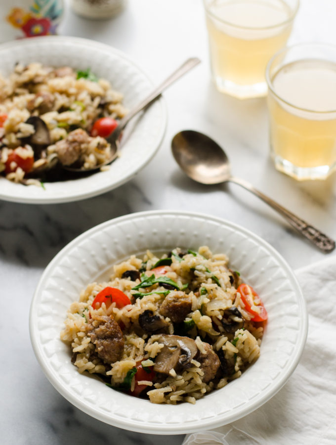 Healthy Supper Idea: One-Pot Sausage and Veggie Rice