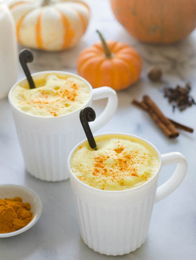 Maple Pumpkin Spice Golden Milk (Turmeric) Latte
