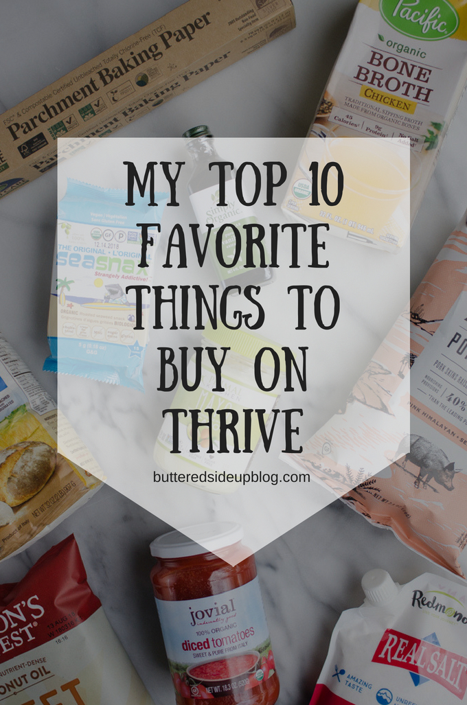 My Top 10 Favorite Things to Buy on Thrive Market | #healthy #groceryhaul #organic