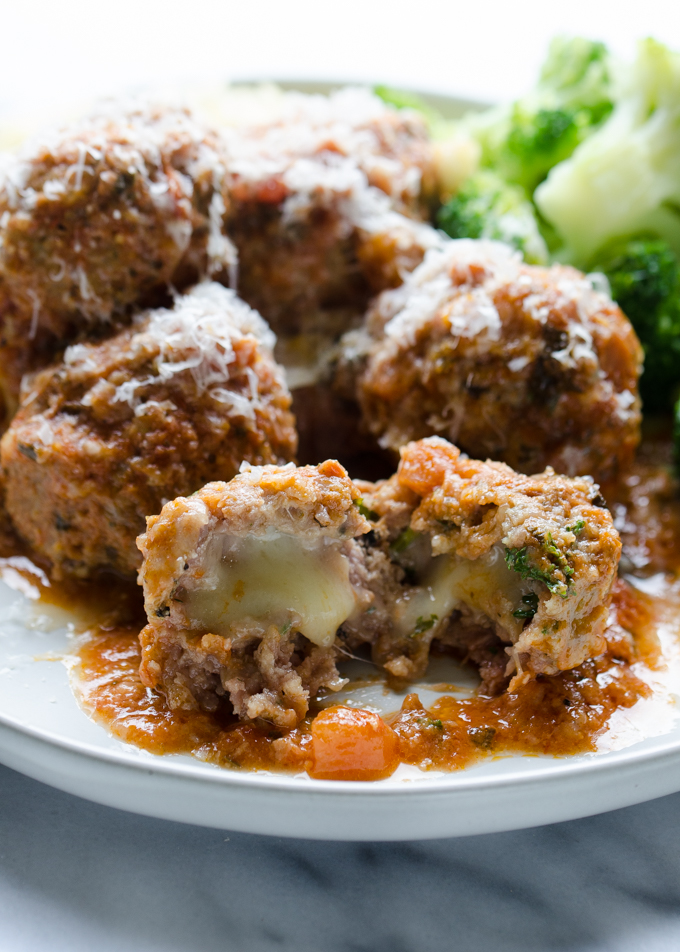 Tasty Tested- Mozzarella Stuffed Meatballs