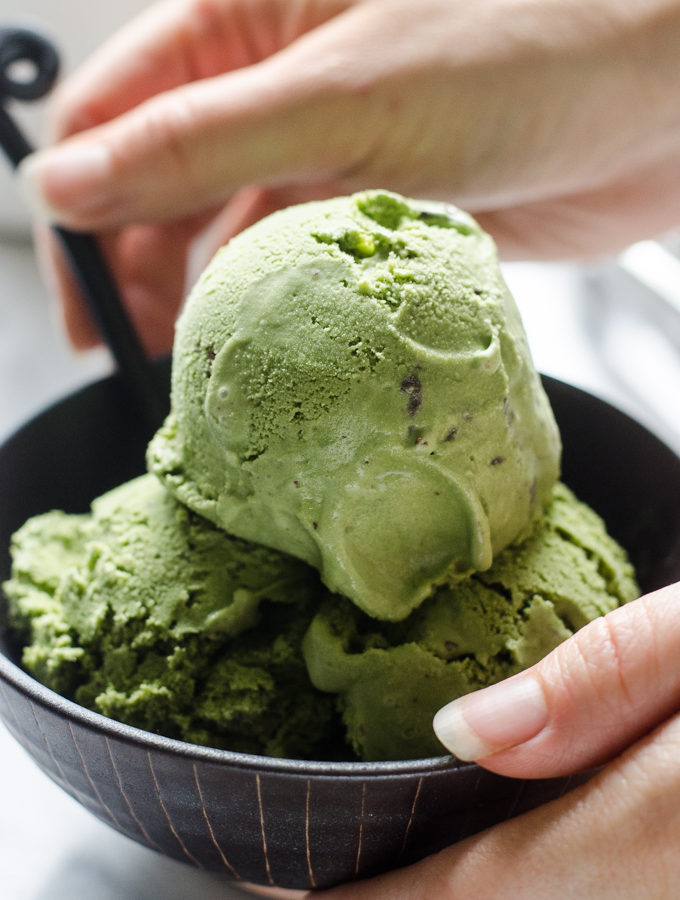 Matcha Chocolate Chunk Ice Cream