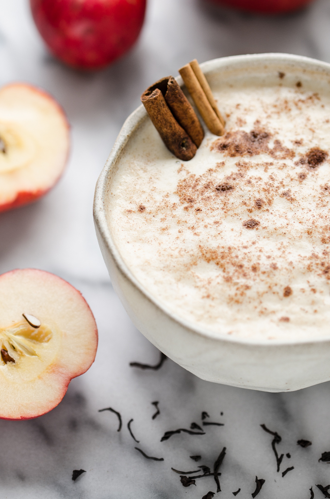 Spiced Apple Tea Latte