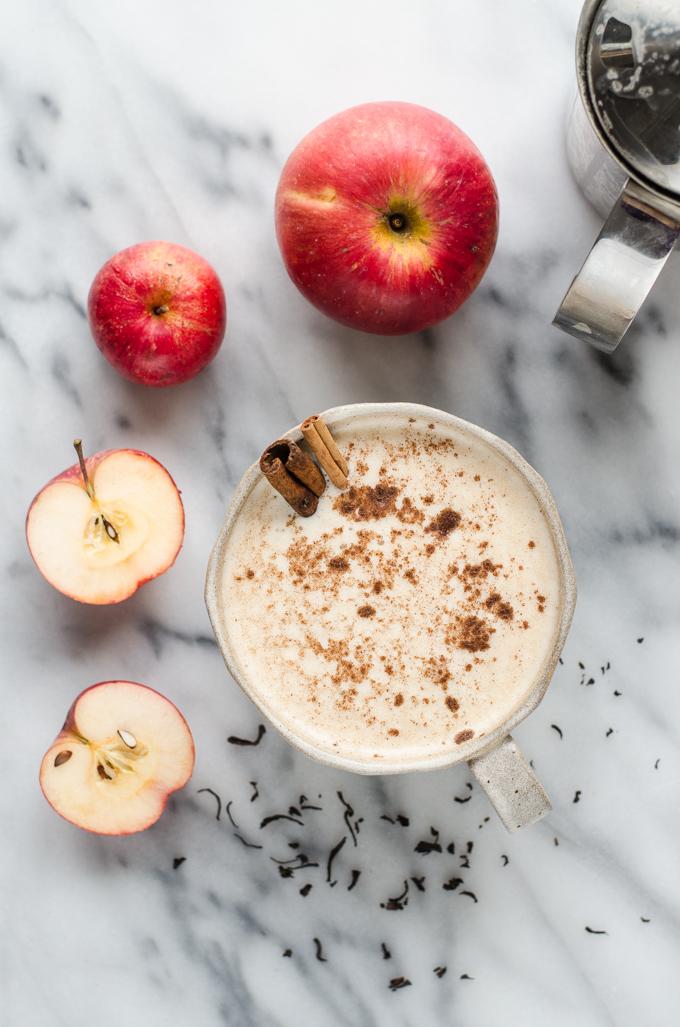 Spiced Apple Tea Latte