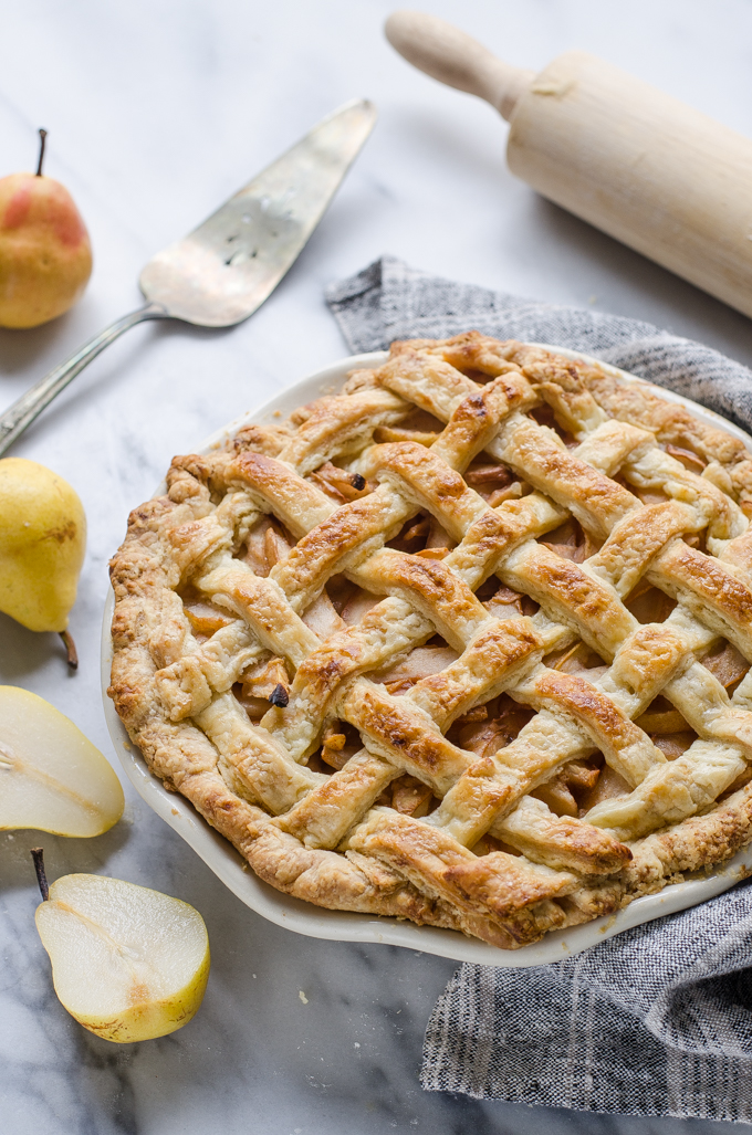 Spiced Pear Pie with Sourdough Crust