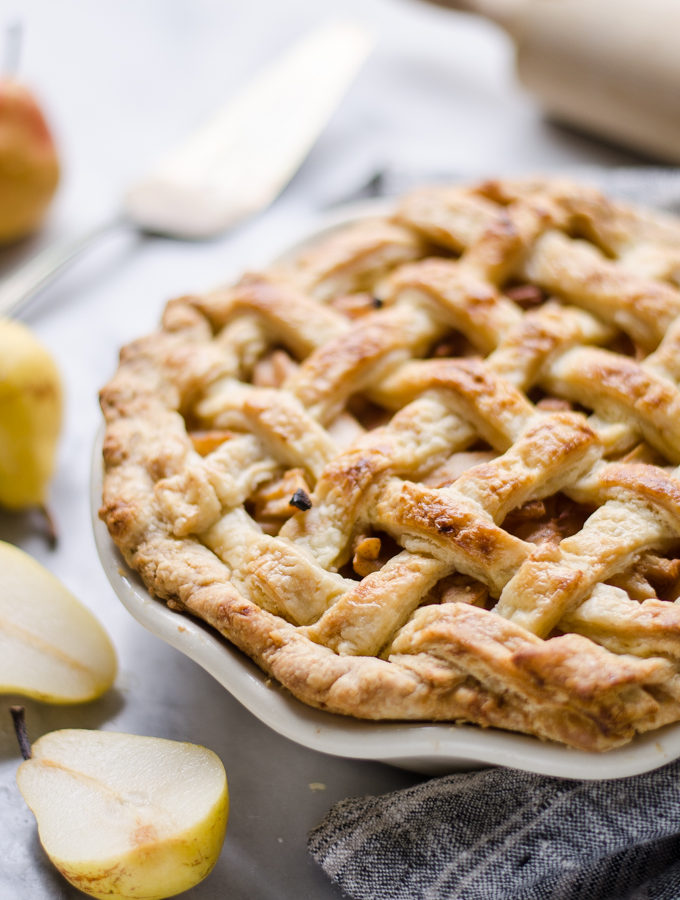 Spiced Pear Pie