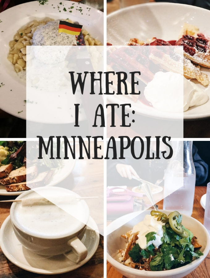 Where I Ate in Minneapolis