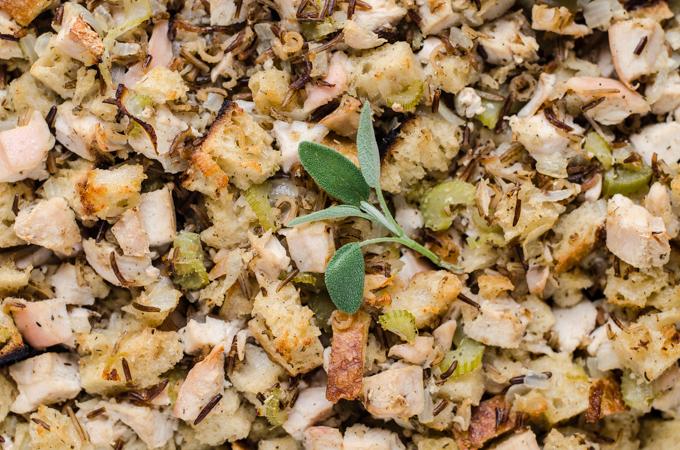 Chicken Wild Rice Stuffing Casserole