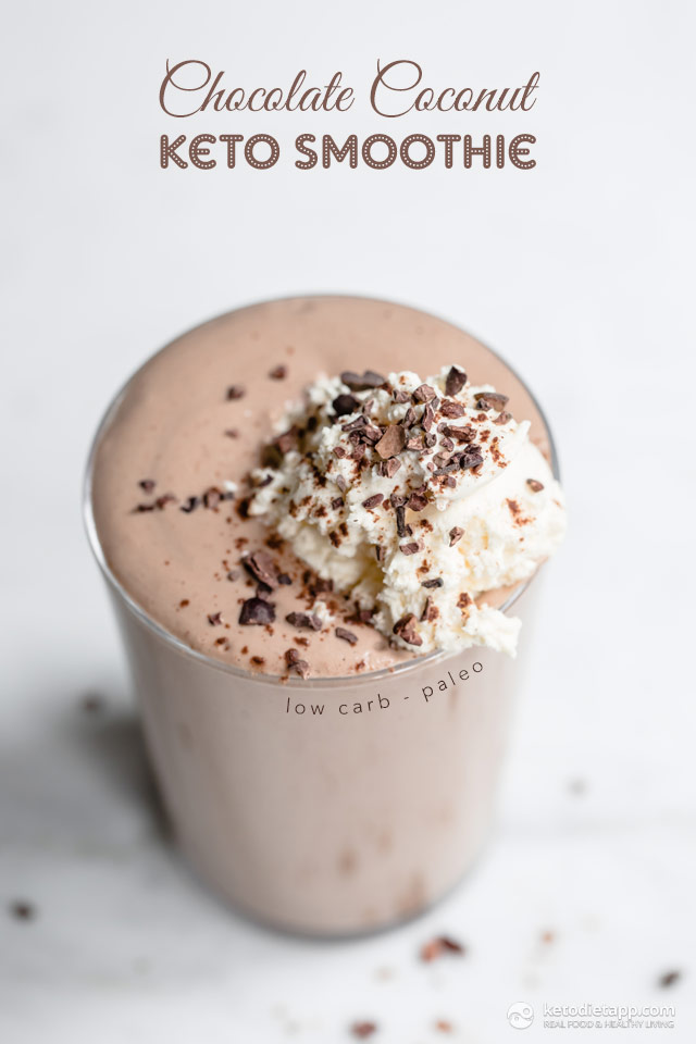 Fat burning chocolate coconut smoothie.