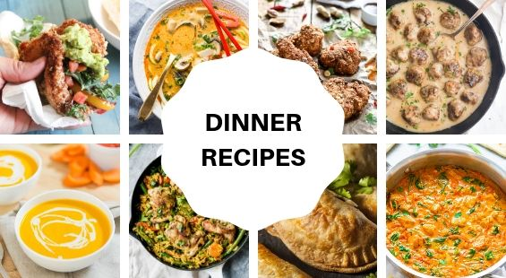 Collage of Dinner Coconut Oil Recipes