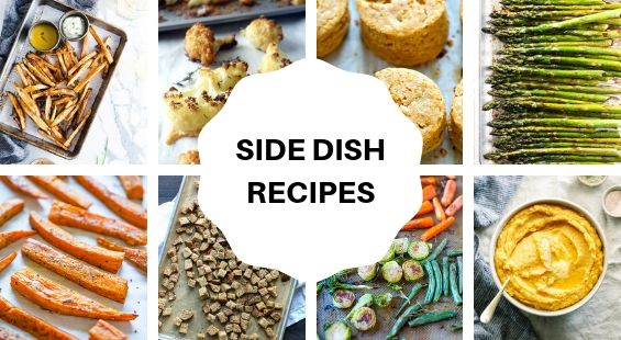 Collage of Side Dish Coconut Oil Recipes