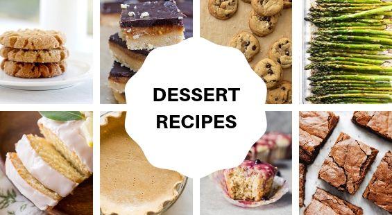 Collage of Dessert Coconut Oil Recipes
