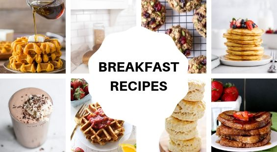 Collage of Breakfast Coconut Oil Recipes