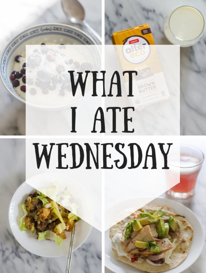 What I Ate Wednesday (7-31-2019)