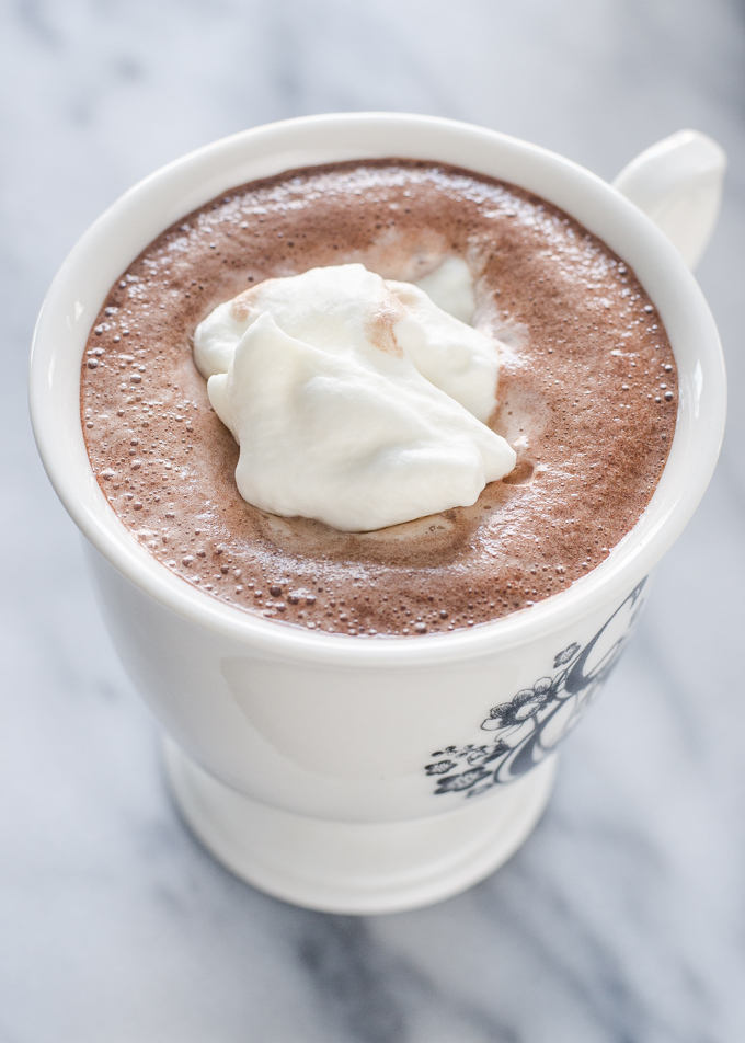 Whipped cream on top of hot cocoa.