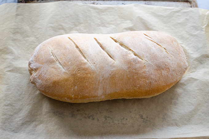 The baked loaf of bread.