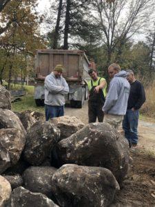 Men and rocks