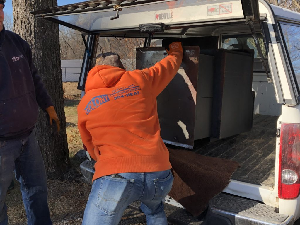 loading stove