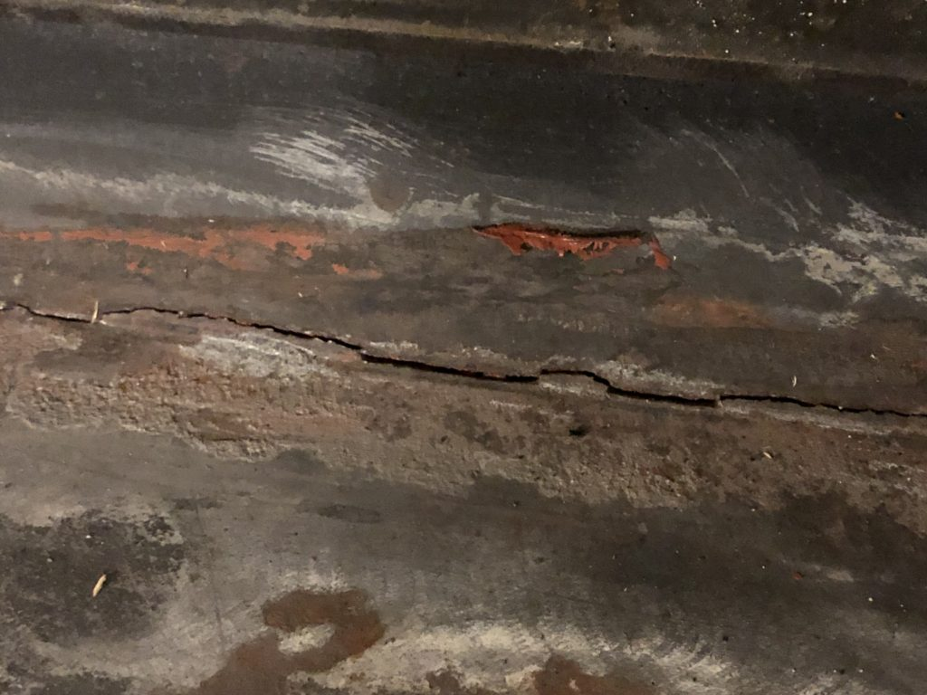 crack in seven year old stove